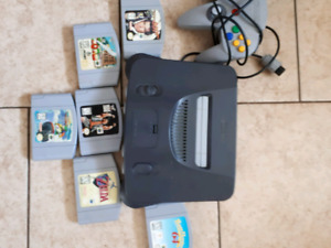 N64 with 6 games and controller