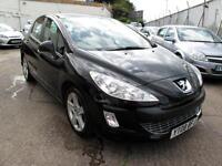 2008 08 Peugeot 308 1.6HDi 110 Sport 5 Door Diesel Black 74K FSH