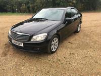 BLACK 2009 Mercedes-Benz C200 CDI SE 2.1TD auto 50+ MPG 1 PREV OWNER FSH