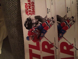 Billet game des canadiens 23 mars centre Bell