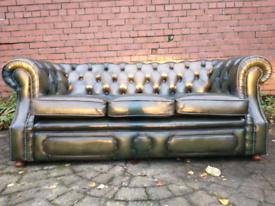 Antique Vintage Retro Chesterfield 3 Seater Sofa & Club Char