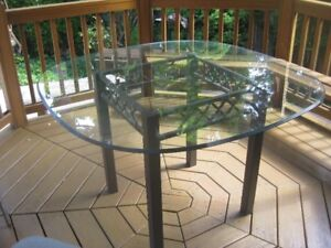 Bowring Decorative Glass Dining Table