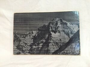 Mountain Imprinted on Wood Board and Custom Work