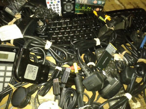 Box of mixed   cables  and others alike  PC/Phone/Laptop