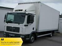 MAN 8.180 4X2 BL DAY CAB 7.5 TON AUTOMATIC TAIL LIFT BOX CAB CHASSIS TRUCK