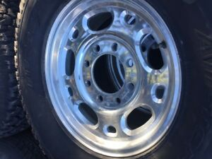 Various Chev Tires and Rim, and one Trailer Tire