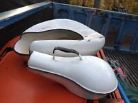 Antique enamel bed pan and urinal used once