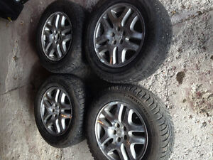 genuine Subaru rims 225-60r16 snow tires