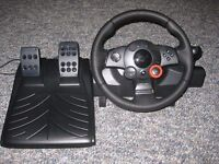 Used Logitech Driving Force GT Steering Wheel for PS3