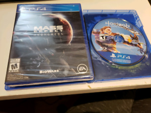 Mass effect andromeda and Horizon zero dawn for ps4 MOVING SALE