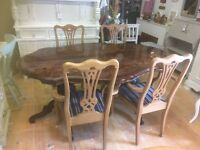 Italian & 4 chairs , ideal shabby chic project