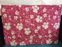 Medium dog bed. Pink and white paws