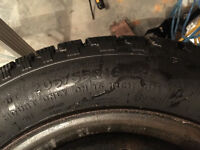 4 Cooper Winter Tires mounted on rims, pre-balanced.