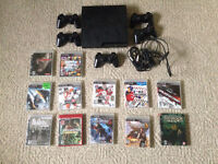 2nd Gen Slim PS3  w/ 5 Dual Shock 3 Controllers & 10 Games