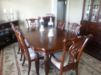 Executive Large Dining Set w/Fireplace