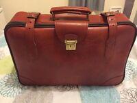 Vintage retro leather suitcase