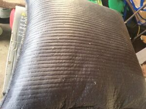 Huge grey feather pillow