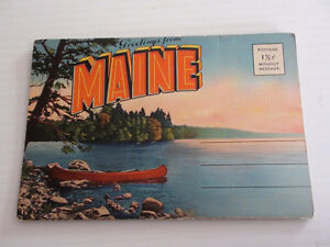 ANCIENNE CARTE POSTALE MAINE 1940's TICHNOR QUALITY VIEWS