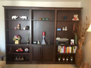 Wooden show case/book shelf (decorated items not included)
