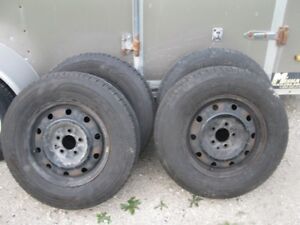 4 215-70-15 Tires on 5 Bolt Rims