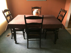 Dining room table with insert