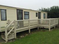 UPVC Caravan Decking - Side decking with steps