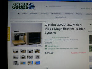 electronic magnifier for low vision