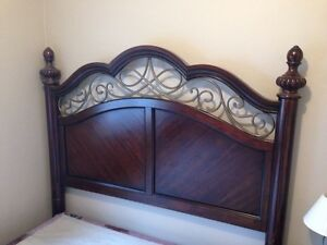 Queen bed frame and box spring $140 OBO