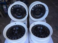 Banded steel wheel and Powdercoating service