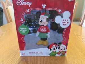 CHRISTMAS INFLATABLES MINNI MOUSE, RUDOLPH OR SNOOPY