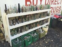 Wide variety of antique bottles