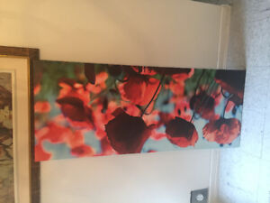 Ikea red roses painting