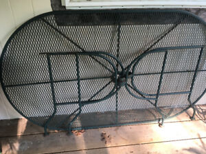 Large outdoor IRON table