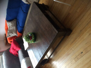 Wooden crafted coffee table