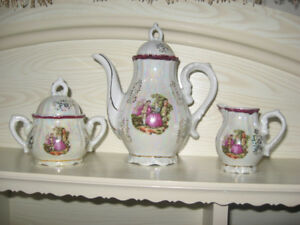 tea set=colection=angels=plaster face & others stuff