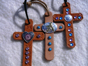 leather cross
