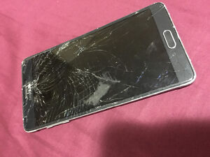 Cracked screen Galaxy note 4