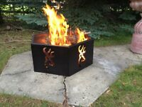 "36"" Browning buckmark outdoor steel fire pit"