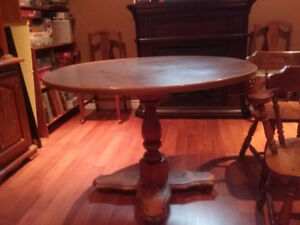 Dining table 4 solid wood chairs