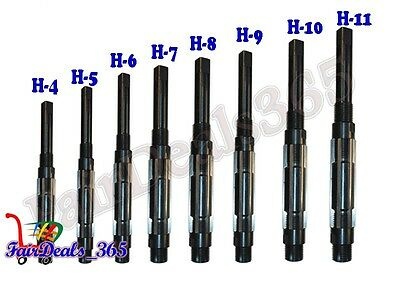 8 Pcs Adjustable Hand Reamer Set H-4 To H-11 Sizes 1532 Inch To 1.116 Inch