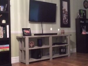 6' long hang crafted tv stand