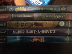 A bunch of PS2 games in great shape complete