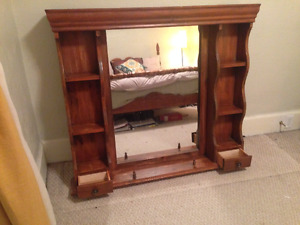 Vintage Hutch with Mirror