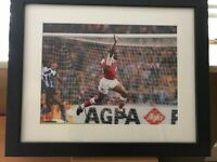Signed Ian Wright photo Arsenal