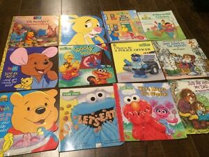 Lot of 12 Softcover Golden Books - Pooh, Sesame Street, etc.