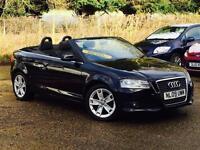 2009 Audi A3 Cabriolet 1.9TDI Sport Black only 64,120 Miles FSH SUPERB!!!!!!