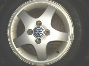 SET OF 4 VW STOCK WHEELS - (VANCOUVER)