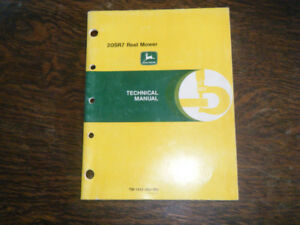 John Deere 20SR7 Reel Mower Technical Manual