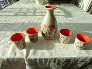 COLOURFUL CERAMIC SAKI SET NOW $15.00