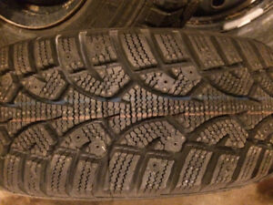 4 New winter tires and 4 good condition all season tires